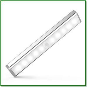 室内手元灯 10LED 人感センサーライト 乾電池式 超寿命 マグネット付 自動点灯消灯 1391 eco2