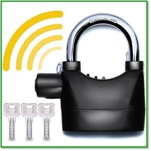 バイクディスクロック 振動感知アラーム 盗難防止 自転車鍵 オフィスセキュリティ 防犯対策 改良版ブラック 1451|eco2