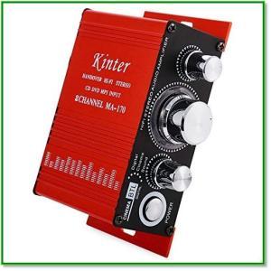 小型・軽量が特徴のポータブルアンプ。外形寸法は約5CMX13.3CMX11CMで、重さが約250g。...