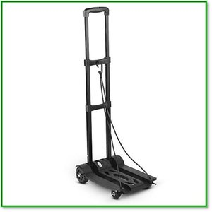 ポータブルトロリー ポータブル折り畳み式ハンドトラック 4ホイール フラット荷物カート 3つ折りハンドル 1570|eco2
