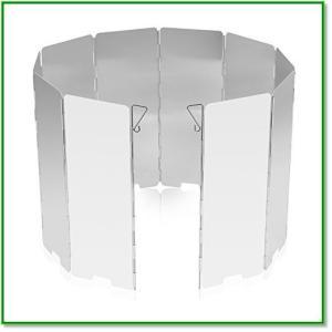 風除板 防風板 ウインドスクリーン 折り畳み式 アルミ製 10枚のプレート 風よけ 携帯に便利 1590|eco2
