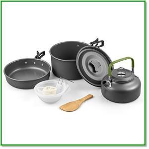 クッカーセット キャンプ用品 アウトドア 調理器具セット 2 3人に適応 10点セット 1593|eco2