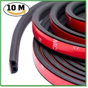 車用ドアモール ウェザーストリップ 風切り音防止テープ 約13mmx5mmx5m2巻入り 10mB型 1643|eco2