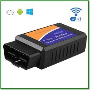 自動車故障診断機 OBDII対応 Wi-F i超小型 多機能 設置簡単 アプリでチェック 1665|eco2