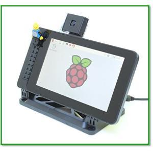 PiTouch-RaspberryPiオフィシャル7 ディスプレイ用ケース スタンド-スマーティパイタッチ 1727|eco2