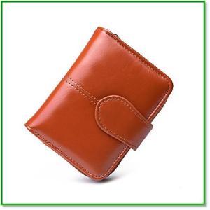 財布(二つ折り財布) レディースウォレット レディ小銭入れ付 高級レザー ZY-1002 1822 eco2