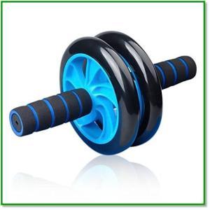 腹筋ローラー エクササイズ 超静音 取り付け簡単 膝を保護するマット付き 腹筋トレ 1867|eco2
