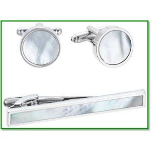 【素材】:ジュエリー真鍮、貝  カフスの貝殻は角度によって光り具合が変わります。