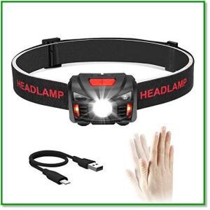 充電式ヘッドライト LEDヘッドランプ 小型軽量 最高照度 防水登山 キャンプ サイクリング ハイキング 2013 eco2