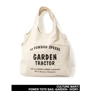 カルチャーマート CULTURE MART バッグ トートバッグ 手提げ鞄 カバン アイボリー 男女兼用 POWER TOTE BAG -GARDEN- -IVORY-|ecoandstyle
