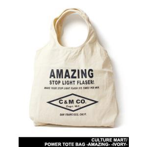 カルチャーマート CULTURE MART バッグ トートバッグ 手提げ鞄 カバン アイボリー 男女兼用 POWER TOTE BAG -AMAZING- -IVORY-|ecoandstyle