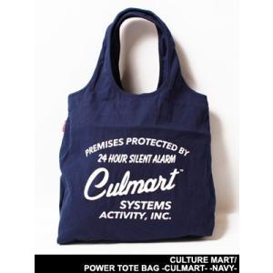 カルチャーマート CULTURE MART バッグ トートバッグ 手提げ鞄 カバン ネイビー/紺色 男女兼用 POWER TOTE BAG -CULMART- -NAVY-|ecoandstyle