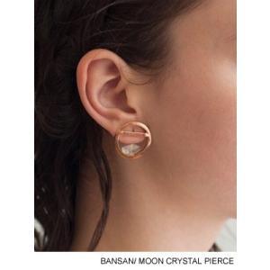 バンサン BANSAN ムーンクリスタルピアス 満月 丸 天然石 レディースアクセサリー MOON CRYSTAL PIERCE -Lady's- ecoandstyle