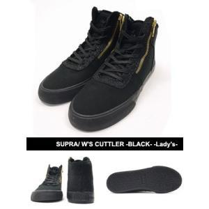 スープラ SUPRA スニーカー 靴 シューズ スケートシューズ ストリート セレブ レディース W'S CUTTLER -BLACK- -Lady's-|ecoandstyle