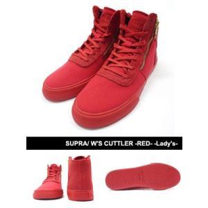スープラ SUPRA スニーカー 靴 シューズ スケートシューズ ストリート セレブ レディース W'S CUTTLER -RED- -Lady's-|ecoandstyle
