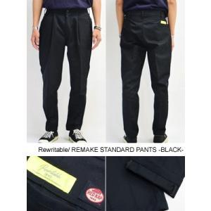 リライタブル Rewritable リメイクスタンダードパンツ ワークパンツ RED KAP シンプル 黒/ブラック メンズ REMAKE STANDARD PANTS -BLACK-|ecoandstyle