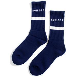 サノバチーズ SON OF THE CHEESE 靴下 ソックス プール スケート ネイビー メンズ...