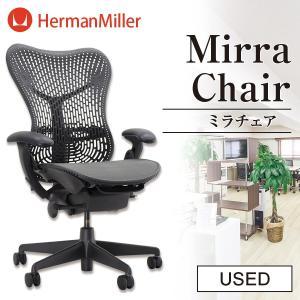 中古 ハーマンミラー Mirra Chair (ミラチェア) グラファイト×グレー 高機能ワークチェア☆744y15|ecoearth