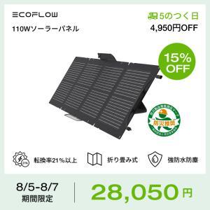 ソーラーパネル 110W EcoFlow公式 ソーラーチャージャー 太陽光パネル エコフロー ポータ...