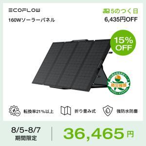 ソーラーパネル 160W EcoFlow公式 ソーラーチャージャー 太陽光パネル エコフロー ポータ...