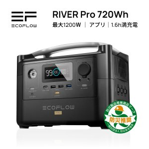 ポータブル電源 大容量 EcoFlow RIVER Pro 720Wh 200000mAh 安心の公...