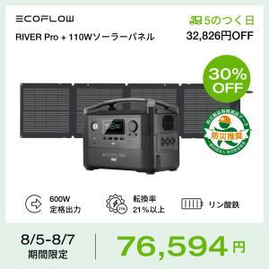 二点セット ポータブル電源 ソーラーパネルセット EcoFlow RIVER PRO+160W 大容...