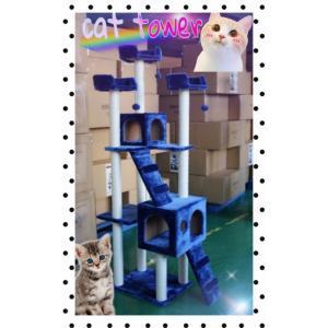 キャットタワー 高さ170cm 猫用 猫タワー 据え置き型 もこもこ 爪とぎ 麻紐 ねこ 猫 ネコ スリム つめとぎ おしゃれ y|ecofuture