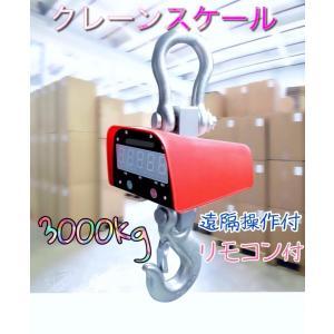 充電式 デジタルクレーンスケール 吊秤 3トン 3000kg 3t クレーンスケール 吊りはかり 計量 はかり リモコン付き!! 業者 即納 y ecofuture