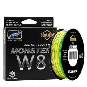 シーナイト MONSTER W8 PEライン 500m 1.0号 20LB および 2.0号 30LB  Hi-Vis Yellow ジギング 釣り フィッシング 3色 フィッシング 新品|ecofuture
