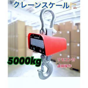 充電式 デジタル クレーンスケール 吊秤 5トン 5000kg  クレーンスケール 吊りはかり 計量 はかり リモコン付き ecofuture