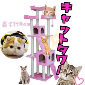 キャットタワー 高さ170cm 猫用 猫タワー 据え置き型  ネコタワー 爪とぎ 猫 ネコ  つめとぎ おしゃれ|ecofuture