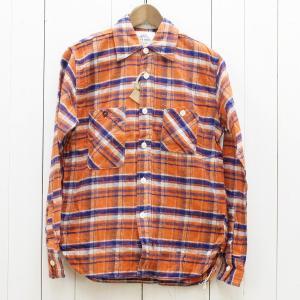 FOB FACTORY エフオービーファクトリー ネルチェックワークシャツ ジーンコード F3312 中古 古着|ecoikawadani