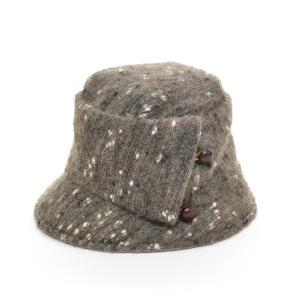 カシラ CA4LA デザインハット 帽子 ウール アンゴラ 中古 古着|ecoikawadani