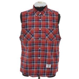 ベドウィン BEDWIN チェックノースリーブシャツ サイズ2 中古 古着|ecoikawadani