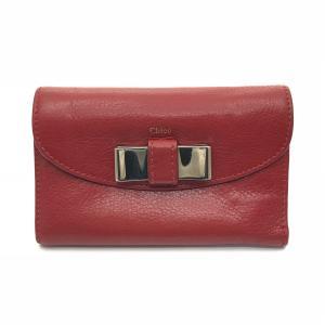 クロエ 三つ折り財布 リボン レザー 中古|ecoikawadani