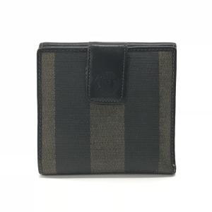 フェンディ 二つ折り財布 ペカン柄 中古|ecoikawadani