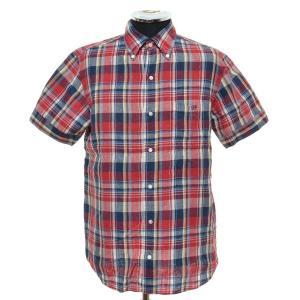 ジムフレックス GP by GYMPHLEX リネンボタンダウンシャツ ショートスリーブ 半袖 サイズS 中古 古着|ecoikawadani