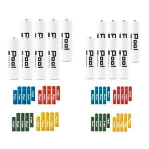 エネロング 単3電池 8本+単4電池 8本 の16本セット ニッケル水素電池 充電池 電池
