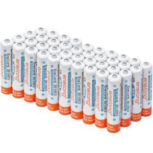エネループ をこえる  充電池 充電式電池 エネロング 単4電池 繰り返し使える 防災グッズ ニッケル水素電池 40本セット (宅配便送料無料)|ecojiji