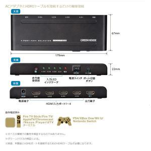 HDMI セレクター 手動切り替え  4K 2K 映像対応 GH-HSWG4-BK (宅配便送料無料)|ecojiji|06