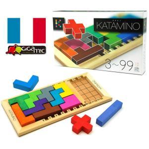 フランス発!世界的人気の名作知育パズル!  様々な形をしたブロックを組み合わせ、指定されたマス目を埋...