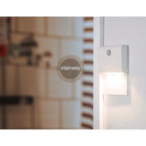 センサーライト LED 照明 人感センサー 暖色 屋内専用 非防水タイプ 電池式 吊り下げ式 小型 フットライト ナイトライト (ネコポス送料無料)|ecojiji
