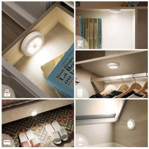 センサーライト 屋内 LED 照明 人感センサー 暖色 寒色  電池式 マグネット着脱式 丸型 小型 フットライト ナイトライト (ネコポス送料無料) ecojiji 04