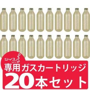 ツイスパソーダ 用 炭酸ガス カートリッジ グリーンハウス製 ばら売り20本セット (ネコポス送料無料)|ecojiji