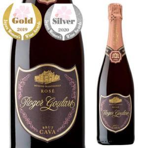 スパークリングワイン ロジャー グラート カヴァ ロゼ ブリュット 750ml 箱なし 長S スペイン 750ml 辛口|ecoledwine