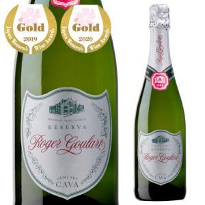 スパークリングワイン ロジャー グラート カヴァ プラチナ ドゥミ セック 750ml 箱なし 長S スペイン 750ml 辛口|ecoledwine