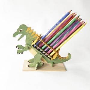 工作キット 恐竜の色鉛筆スタンド 夏休み 工作 自由研究 キット 小学生 自由工作 手作り 小学校 冬休み ネコポス|ecolekyouzai