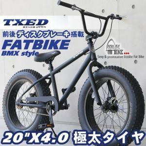 ファットバイク ビーチクルーザー 自転車 20インチ FATBIKE ファットバイク BMXスタイル|ecolife-araisk2011
