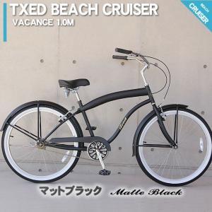 ビーチクルーザー 26インチ 自転車 マットブラック  ビーチクルーザー 自転車|ecolife-araisk2011|02