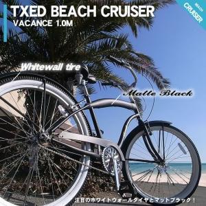 ビーチクルーザー 26インチ 自転車 マットブラック  ビーチクルーザー 自転車|ecolife-araisk2011|03